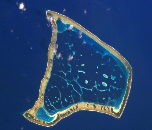 Picture Of The Fakaofo Atoll In Tokelau